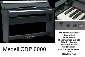 Medeli CDP6000B Digitalpiano