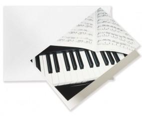 Grusskarte Klavier A6