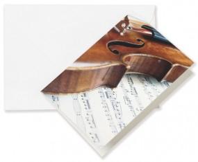 Grusskarte Geige A6