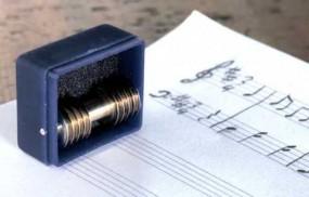 Notenrollenstempel Set