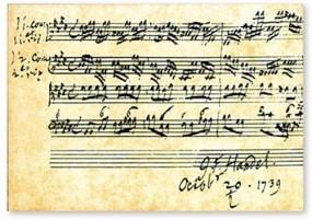 Postkarte Notenblatt Händel