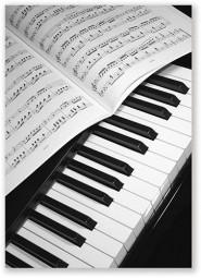 Postkarte Klavier Tastatur