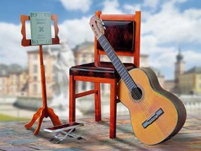 Gitarre Kartonmodellbau