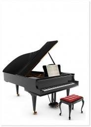 Postkarte Klavier