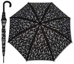 Regenschirm Violinschlüssel schwarz VIOLIN